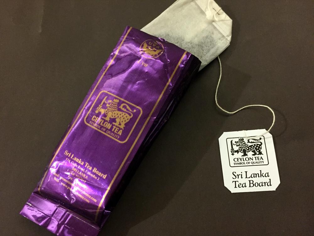 スリランカのブースで頂いた紅茶。渋みが少なく上品な味わい。